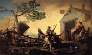 Francisco Goya Fight at the New Inn oil painting on canvas