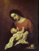 Francisco de Zurbaran The Virgin Mary and Christ oil painting artist