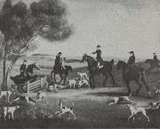 Hunting Scene Detail from a landscape