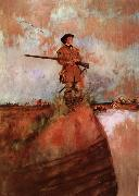 Howard Pyle George Rogers Clark on his way to kaskaskia oil painting