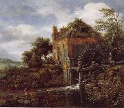 Thatch-Roofedhouse with a water Mill