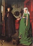 Jan Van Eyck Betrothal of the Arnolfinis oil painting reproduction