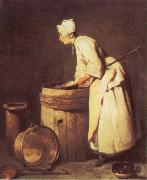 Jean Baptiste Simeon Chardin The Scullery Maid oil painting reproduction