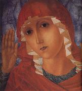 Kuzma Petrov-Vodkin The Mother of God of Tenderness towards Evil Hearts oil painting
