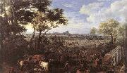 MEULEN, Adam Frans van der The Army of Louis XIV in front of Tournai in 1667 oil painting reproduction