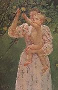 The Baby Reaching for  the apple