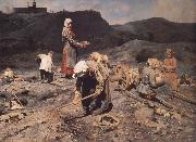 Nikolai Kasatkin Poor People Collecting Coal in an Abandoned Pit oil painting on canvas