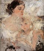 Artist-s Wife and his daughter