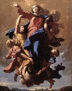 POUSSIN, Nicolas The Assumption of the Virgin oil painting reproduction