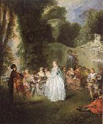 WATTEAU, Antoine Unknown work oil painting reproduction