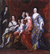 David Clock Ehrenstrahl Grupportratt of Fellow XI with family