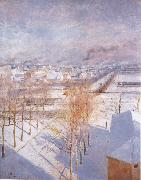 Albert Edelfelt Paris in the Snow oil painting