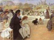 Albert Edelfelt In the Luxembourg Garden oil painting