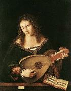 BARTOLOMEO VENETO Woman Playing a Lu