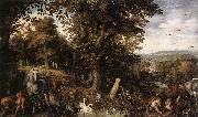Garden of Eden 1612 Oil on copper
