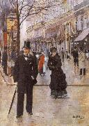 Beraud, Jean On the Boulevard oil painting