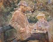 Manet and his daughter