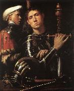 CAVAZZOLA Warrior with Equerry oil painting