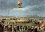 Carnicero, Antonio Ascent of the Balloon in the Presence of Charles IV and his Court oil painting