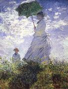A woman with a parasol