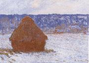 Haystack in the Snow,Overcast Weather