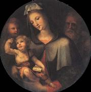 The Holy Family with Young Saint John around