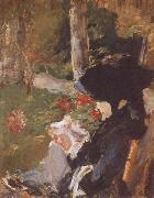 Manet-s Mother in the Garden at Bellevue