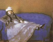 Madame Manet on a Divan
