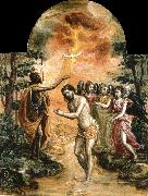 El Greco The Baptism of Christ oil painting reproduction