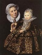 Frans Hals Catharina Hooft with her Nurse