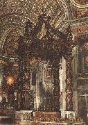 Giovanni Lorenzo Bernini The Baldacchino oil painting