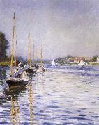 Boats on the Seine at Argenteruill