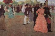 Henri Evenepoel Sundy in the Bois de Boulogne oil painting