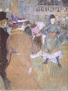 Henri de toulouse-lautrec Pa Moulin Rouge Kadrilj borjar oil painting reproduction