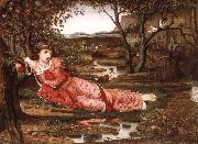 John Melhuish Strudwick Song without Words oil painting