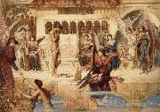 John Melhuish Strudwick The Ramparts of God-s House oil painting