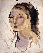Head portrait of woman