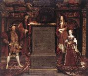 Leemput, Remigius van Henry VII, Elizabeth of York, Henry VIII, and Jane Seymour oil painting