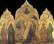 The Annunciation with Saints Catherine,Anthony Abbot,Procolo,and Francis