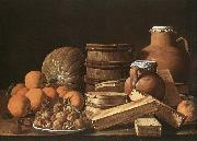 MELeNDEZ, Luis Still-Life with Oranges and Walnuts oil painting artist