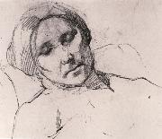 Portrait of mother asleeping