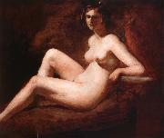 Reclining Femal Nude with Her Arm on a ledge