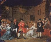 William Hogarth Scene from Tiggaroperan oil painting artist