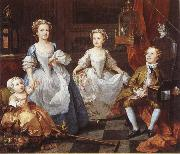 William Hogarth Famijen Graham children oil painting artist