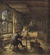 Adriaen van ostade The Painter in his Studio oil painting