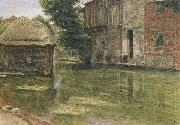 Albert Goodwin,RWS Old Mill,Near Winchester (mk46) oil painting reproduction
