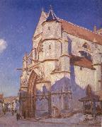 Alfred Sisley The Church at Moret oil painting reproduction
