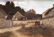 Alfred Sisley Village Street in Marlotte oil painting reproduction