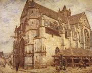 Alfred Sisley The Church at Moret-Icy Weather oil painting reproduction