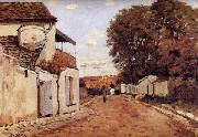 Alfred Sisley Street in Louveciennes oil painting reproduction